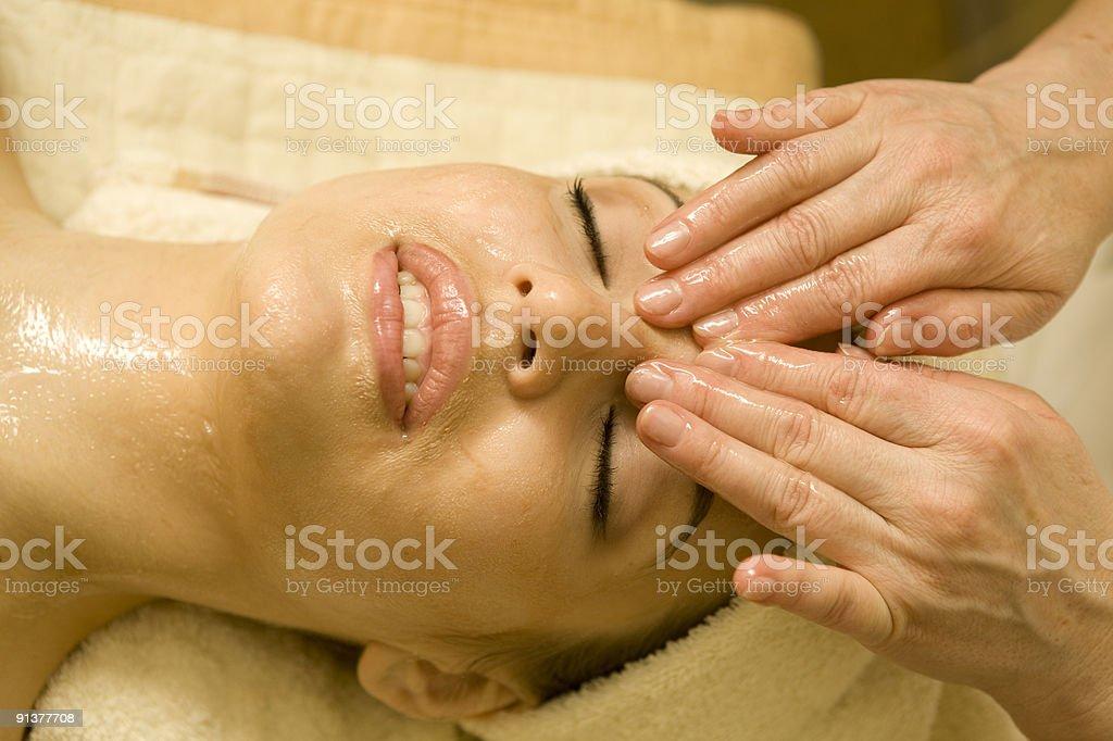 Facial massage. XXXL royalty-free stock photo