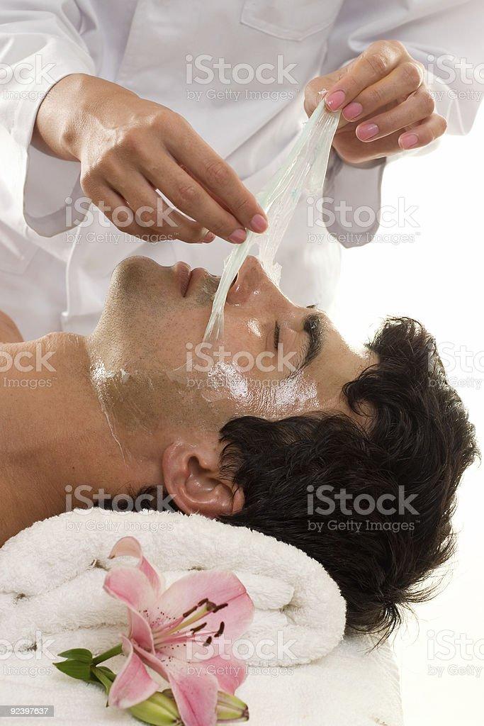 Facial Peel royalty-free stock photo