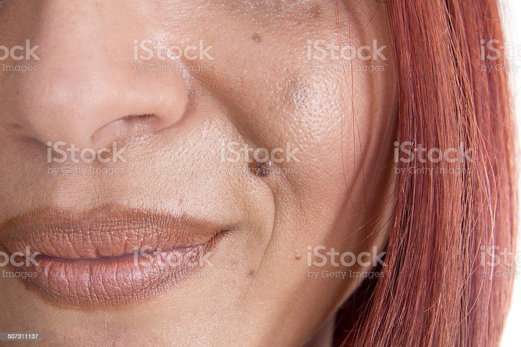 Facial Skin Close Up stock photo