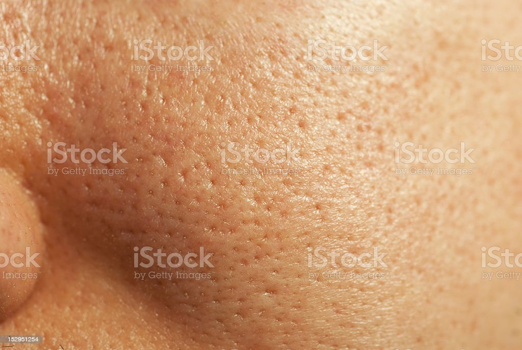Facial Skin Closeup stock photo