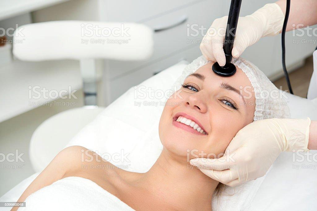 Facial skincare procedure stock photo