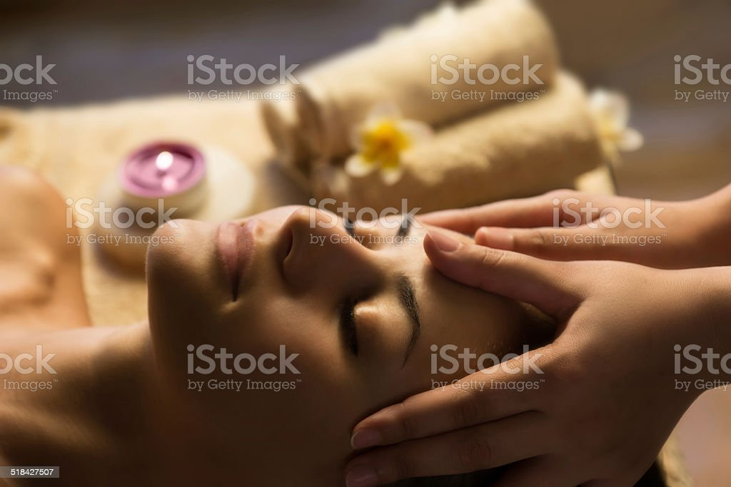 Facial SPA massage stock photo