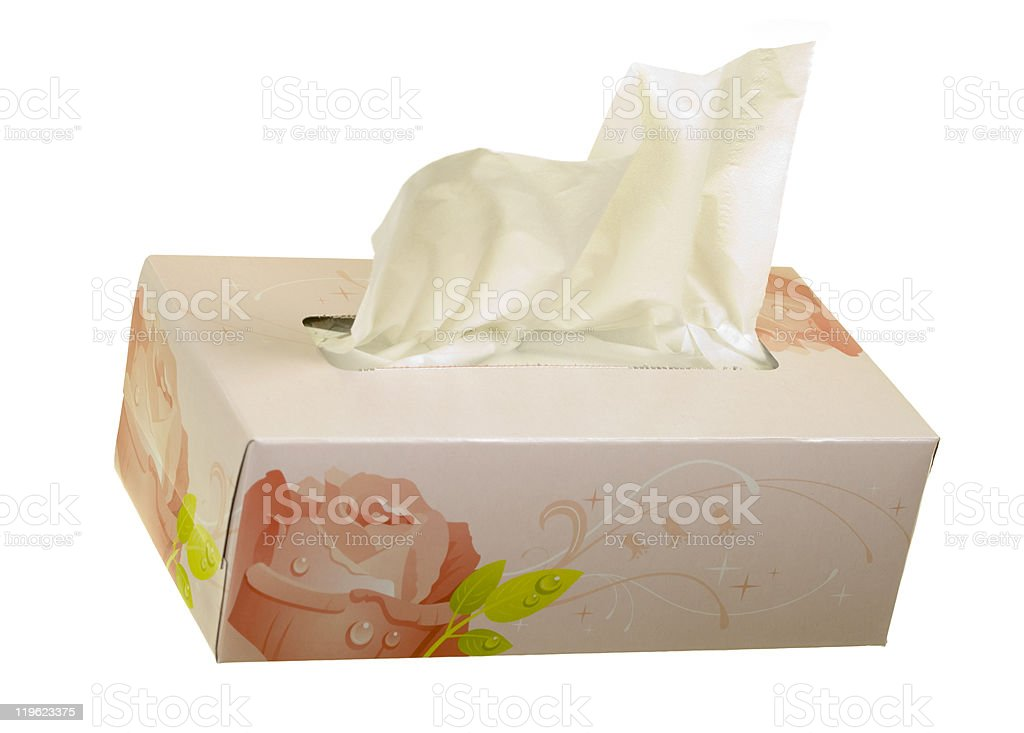 Facial Tissues Angle View royalty-free stock photo