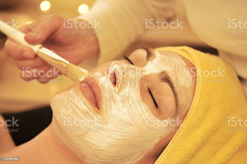 Facial Treatment royalty-free stock photo