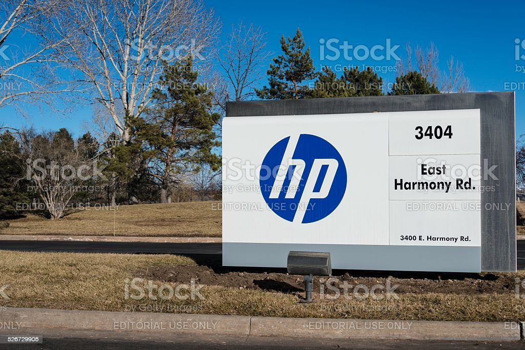 HP (Hewlett-Packard) Facility in Fort Collins, Colorado stock photo