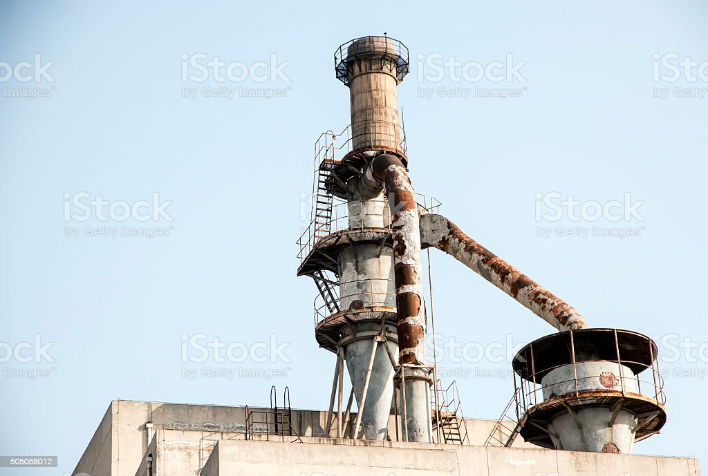 Facility in Old Coal-gas Factory in Beijing,China stock photo