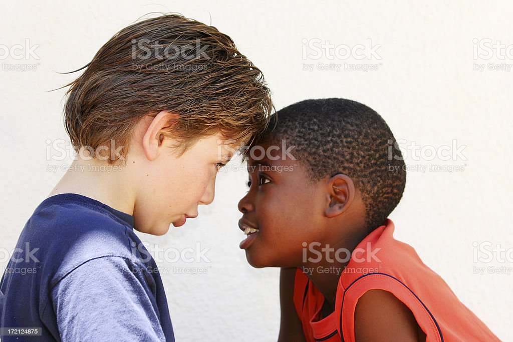 Facing each other two royalty-free stock photo