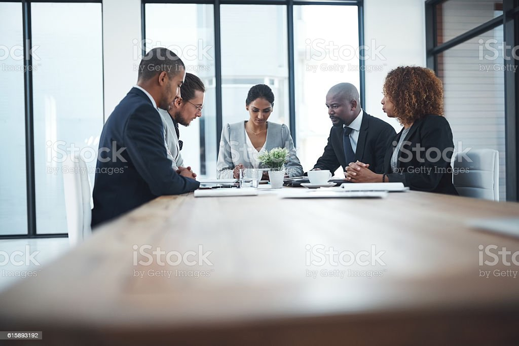 Facing high challenges with high skills stock photo