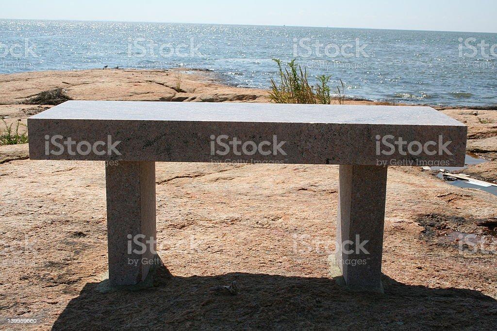 facing the horizon stock photo