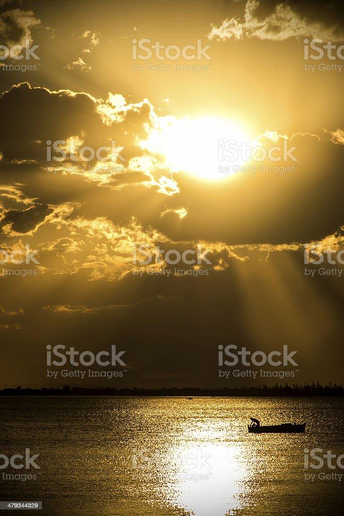 Facing to Sunset stock photo