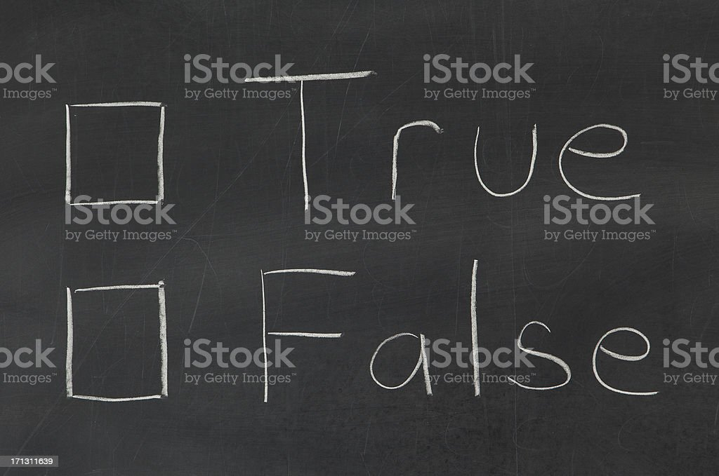 Fact Check. True or False royalty-free stock photo