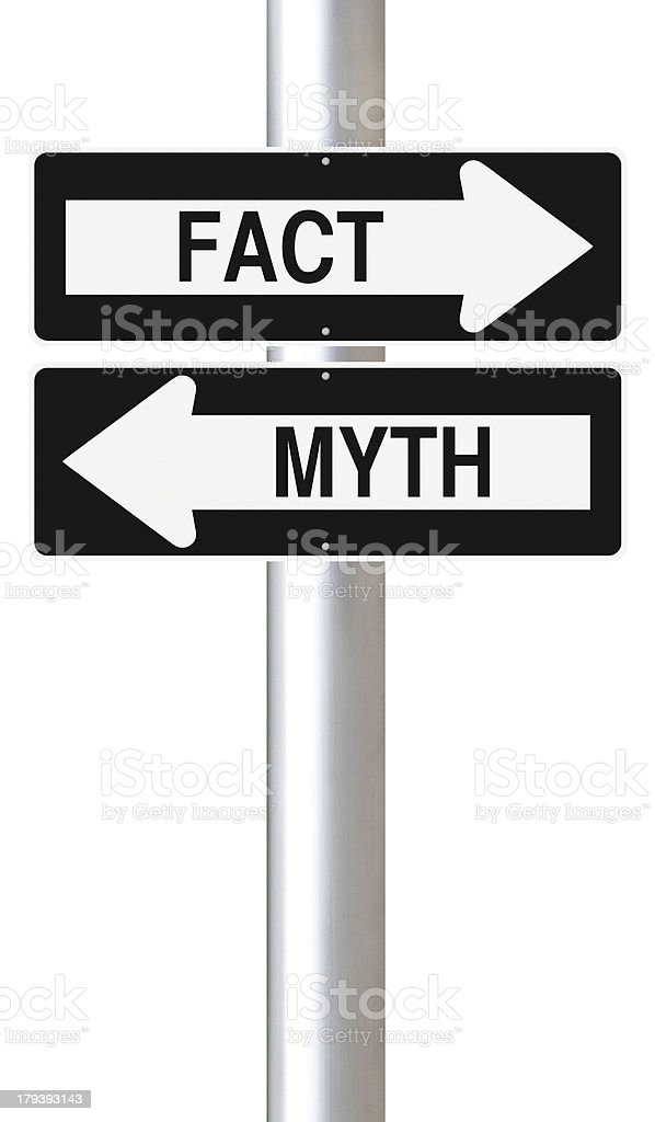 Fact or Myth stock photo