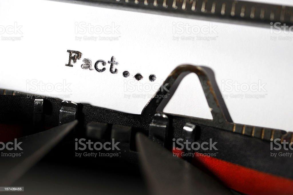 Fact royalty-free stock photo
