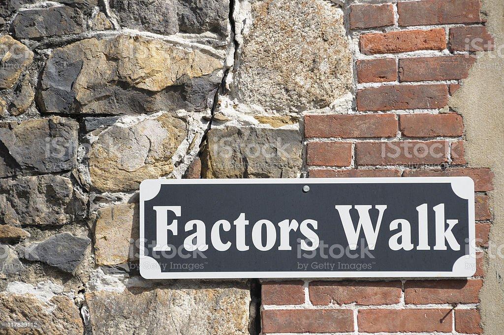 Factors Walk, Savannah, Georgia stock photo