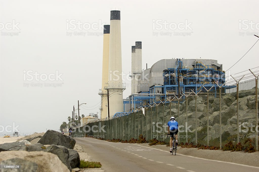 Factory at the beach royalty-free stock photo