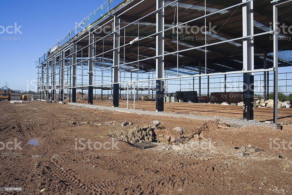 Factory Construction royalty-free stock photo