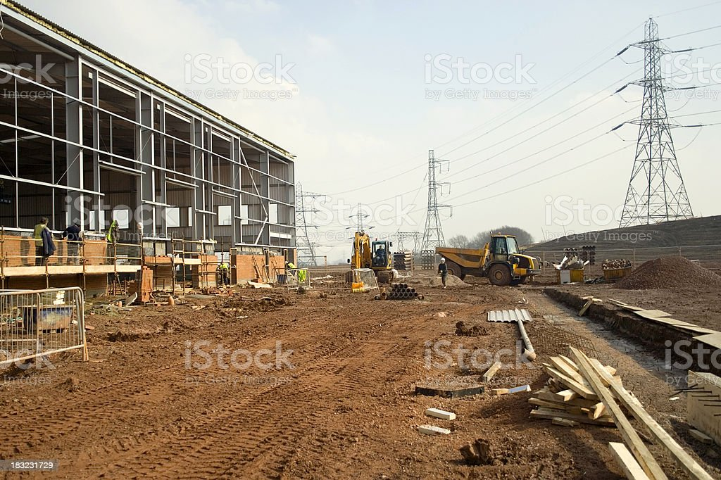 Factory Construction royalty-free stock photo