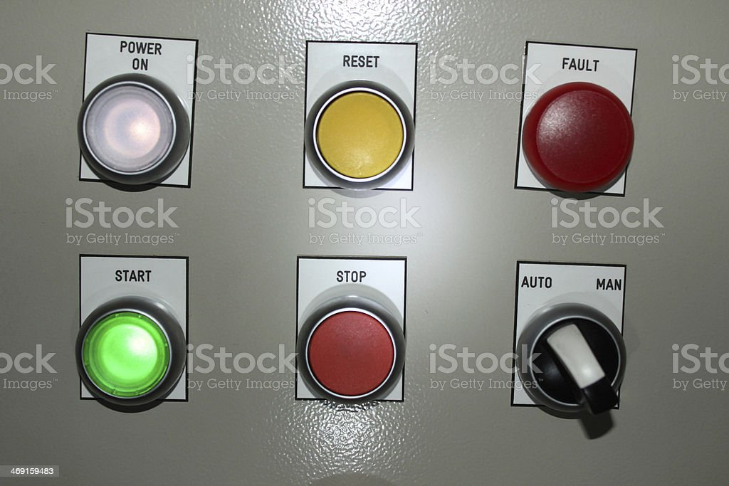 Factory Control Panel stock photo