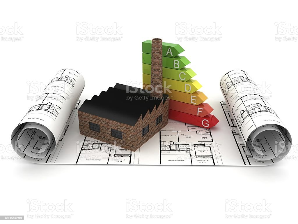 Factory Energy Planning royalty-free stock photo