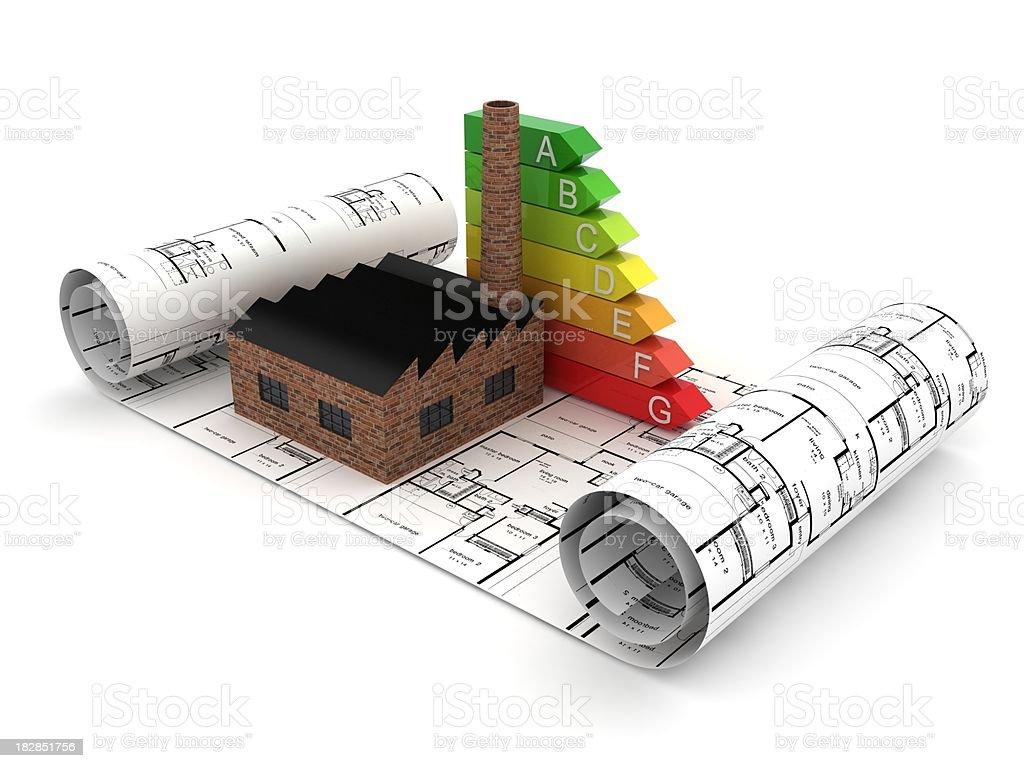 Factory Energy Planning stock photo