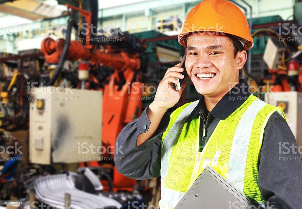 Fabrik engineer Lizenzfreies stock-foto