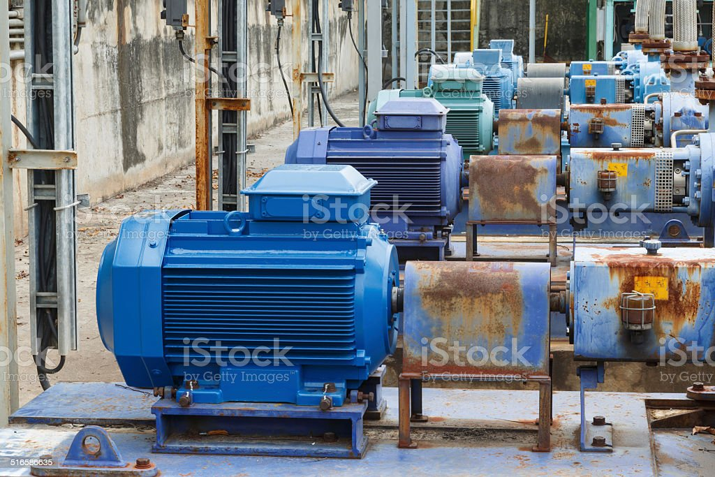 Factory equipment  motor industrial stock photo