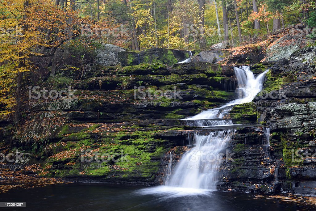 Factory Falls at Delaware Water Gap NRA stock photo
