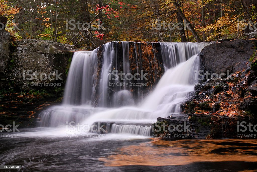 Factory Falls of Delaware Water Gap NRA in Autumn royalty-free stock photo
