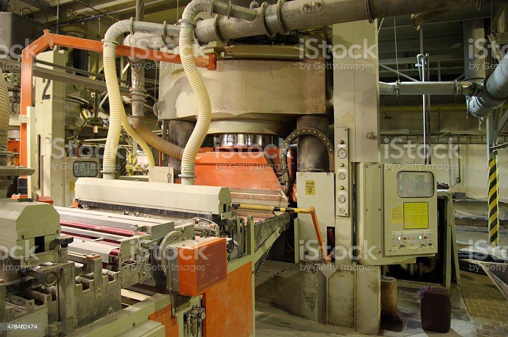 Factory for ceramic tiles stock photo
