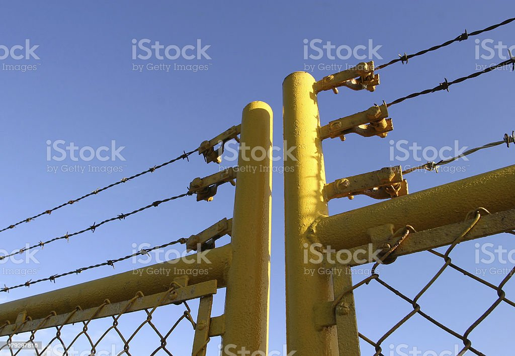 Factory Gate royalty-free stock photo
