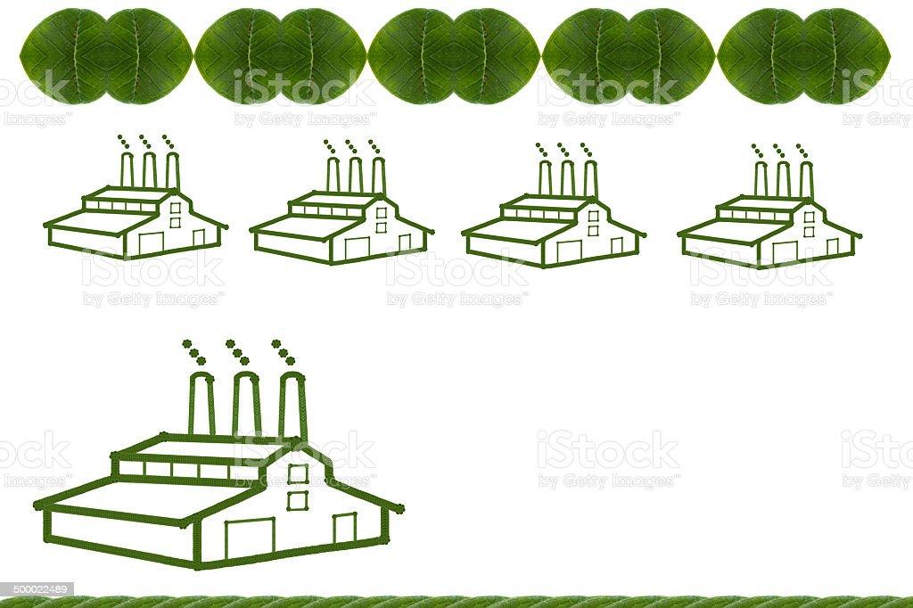 Factory green .(Icon concept) stock photo