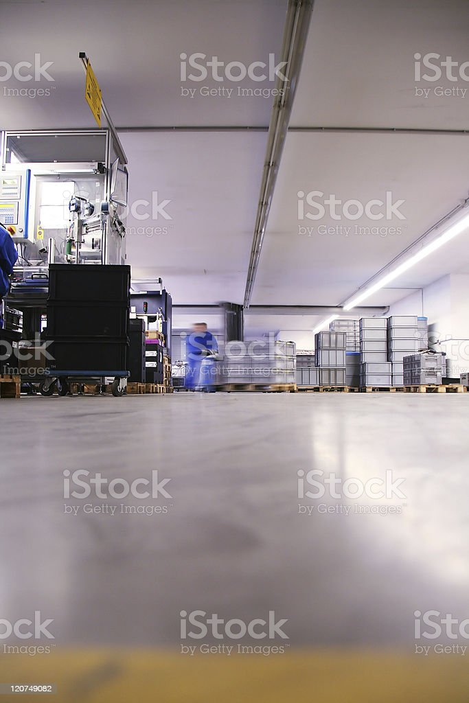 factory hall royalty-free stock photo