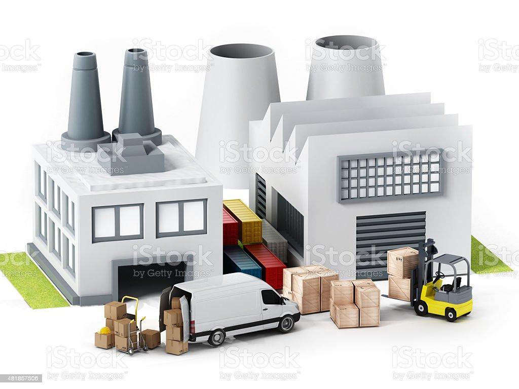 Factory illustration stock photo