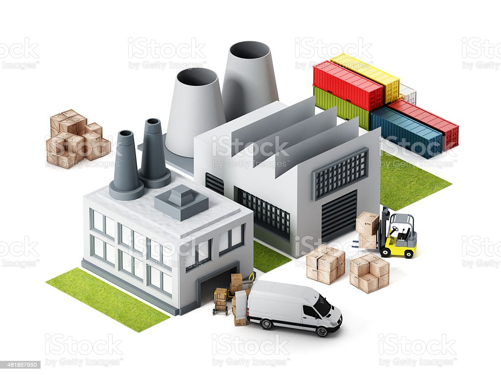 Factory illustration stock photo