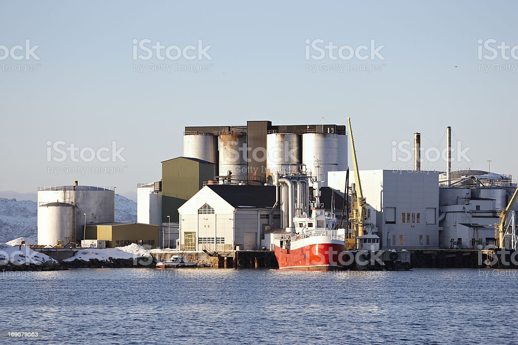 Factory in Bodoe, north of the Polar Circle stock photo