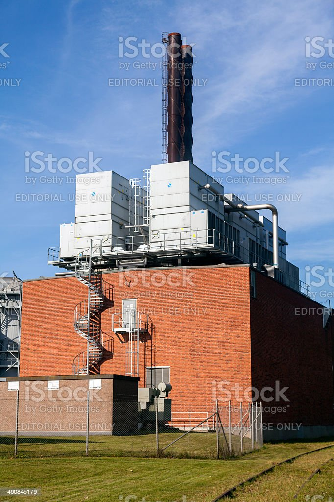 Factory in Linkoping, Sweden royalty-free stock photo