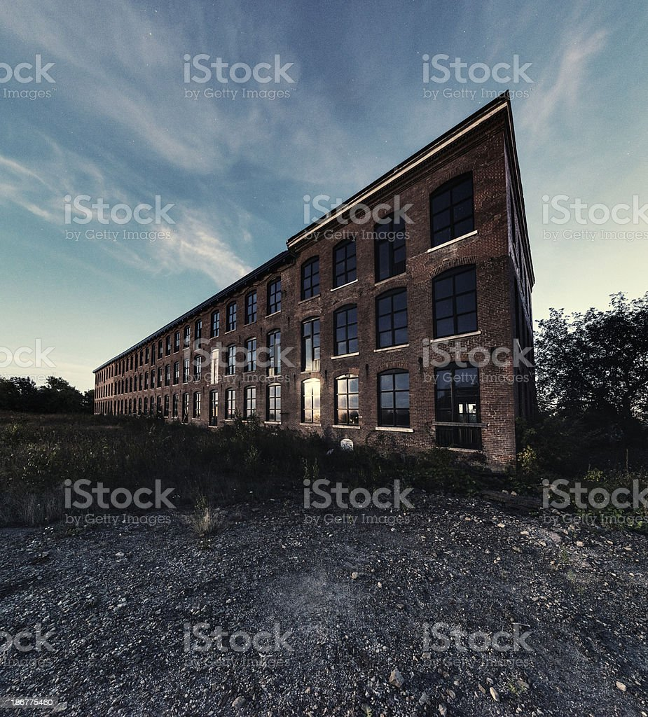 Factory in Moonlight royalty-free stock photo