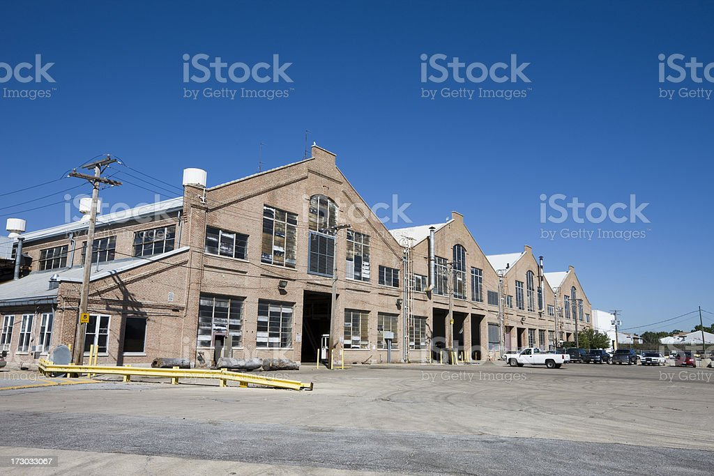 Factory in Pullman, South Chicago stock photo