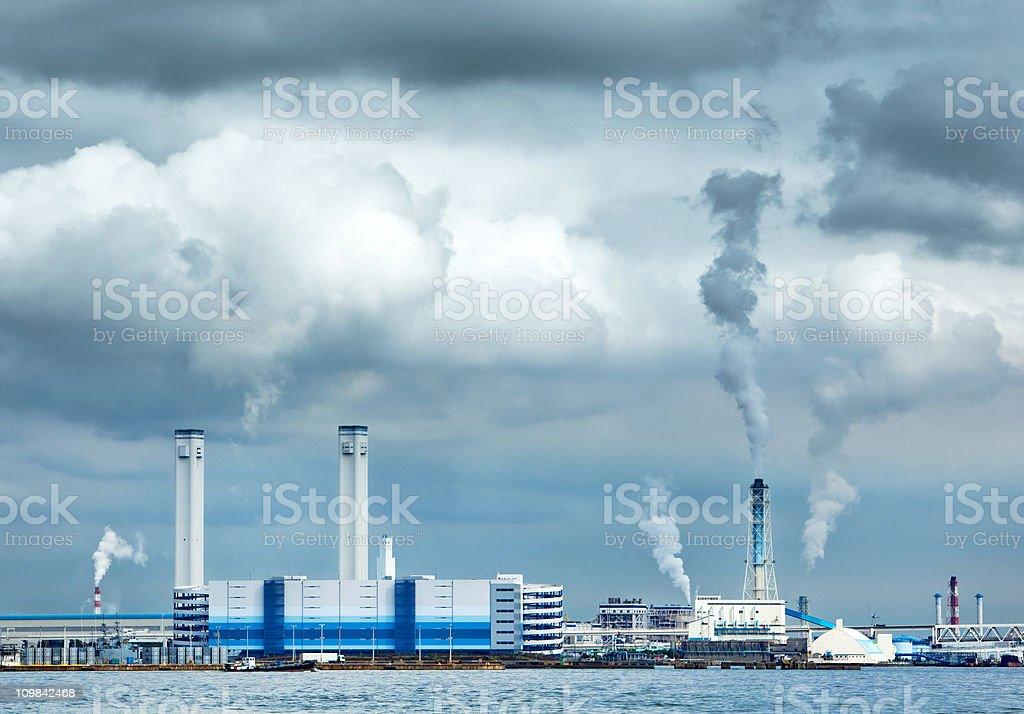 Factory in Yokohama, Japan royalty-free stock photo