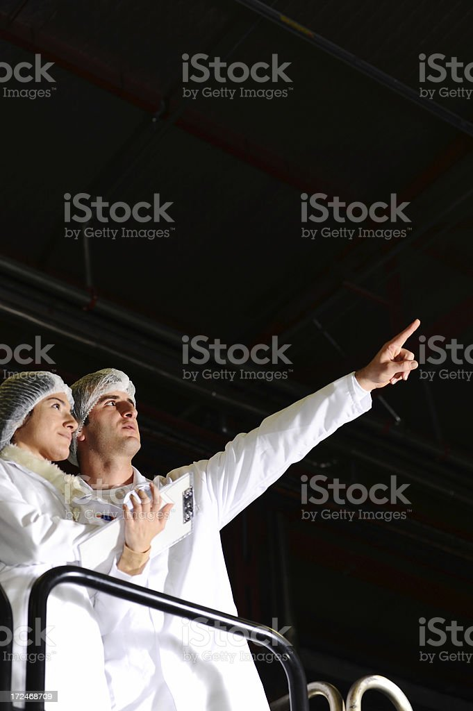 Factory inspection royalty-free stock photo