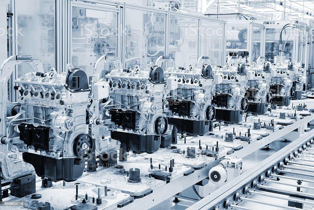 Factory line stock photo