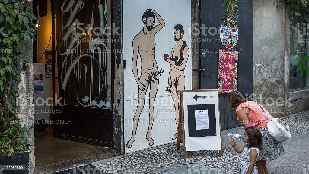 LX Factory, Lisbon, Portugal stock photo