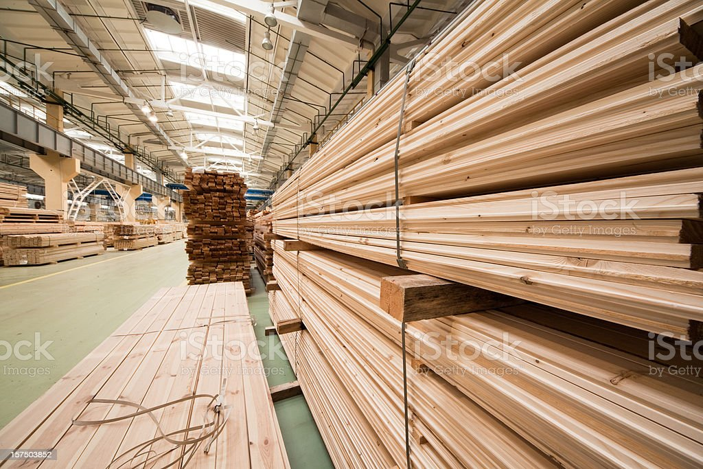 Factory: lumber yard stock photo
