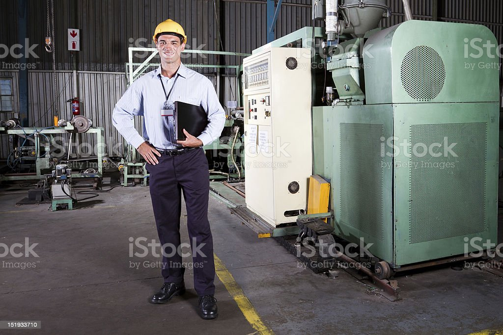 factory manager royalty-free stock photo