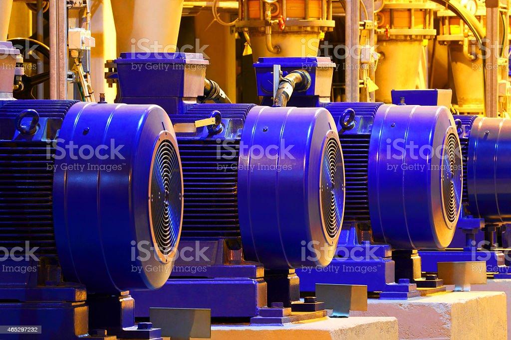 Factory motor machine equipment stock photo