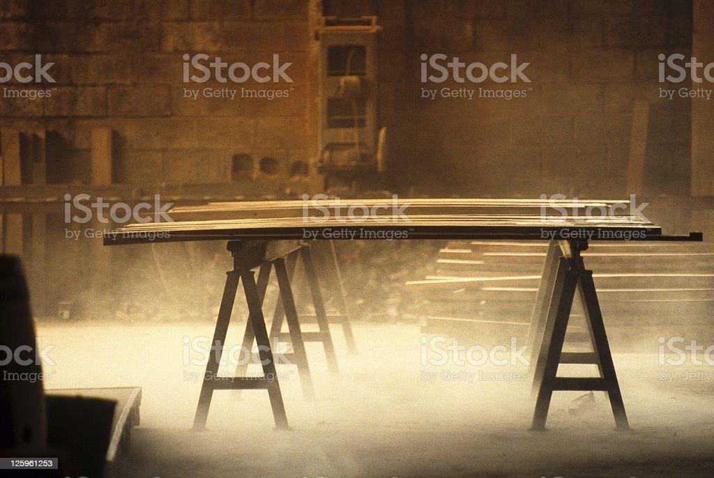 Fabbrica di un barile maker. foto stock royalty-free