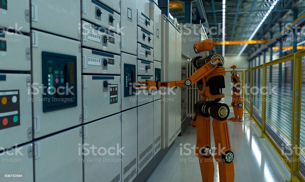 Factory of Future stock photo