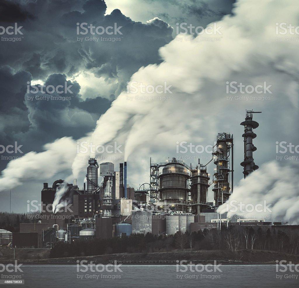 Factory of Grunge stock photo