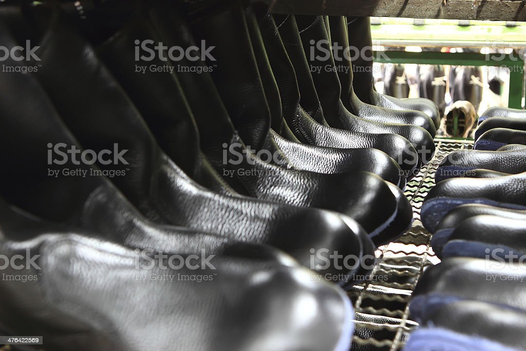 Factory of safety shoes royalty-free stock photo