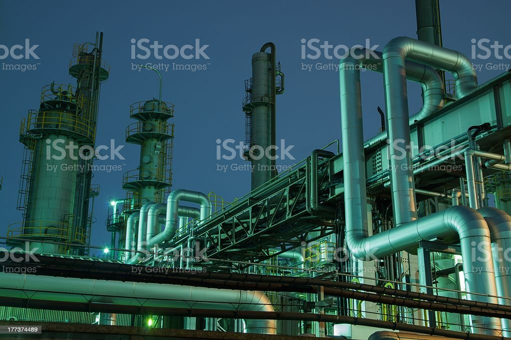 Factory of the night royalty-free stock photo